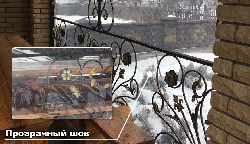 Мягкое окно с прозрачным швом