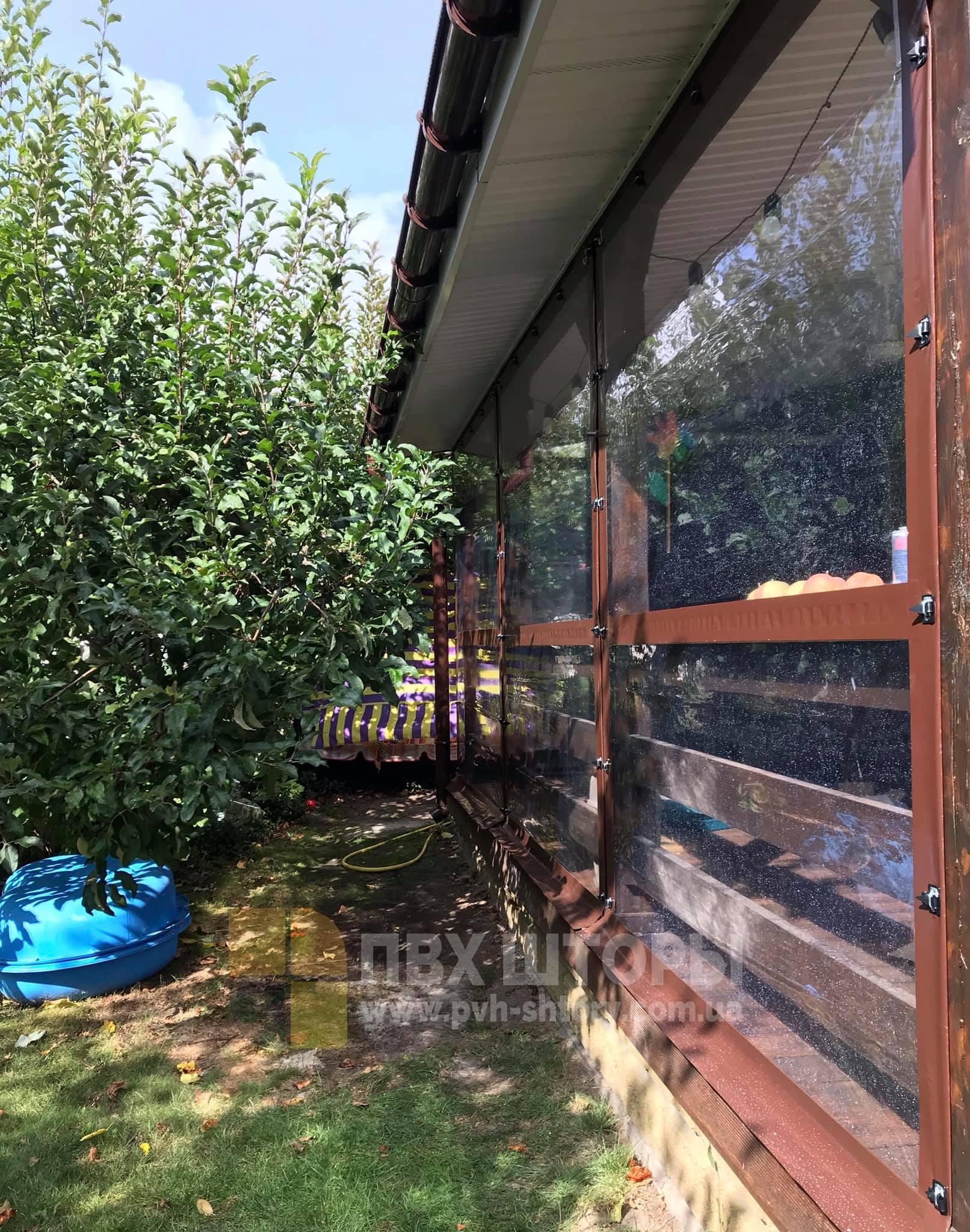 Брезентовые окна для веранды в Раздельной
