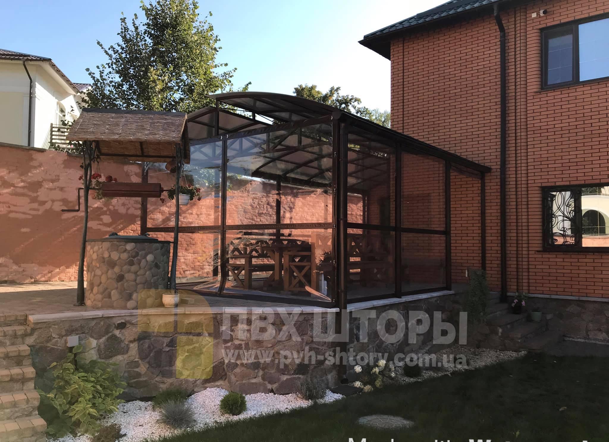 Пленочные окна для беседки в Березовке
