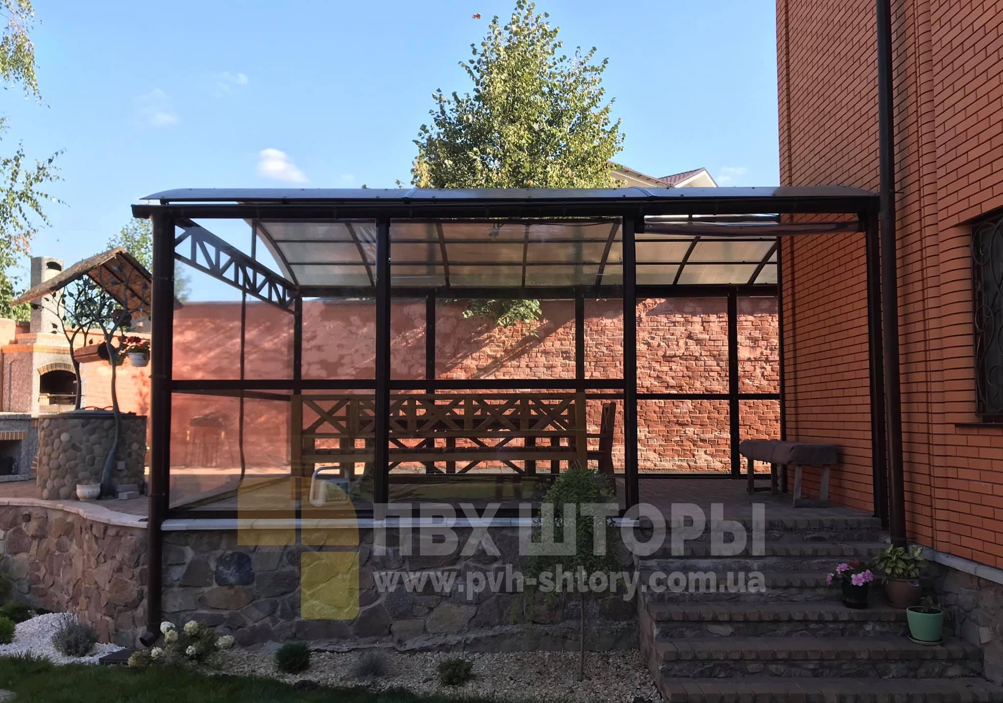 Гибкие окна для беседки в Березовке