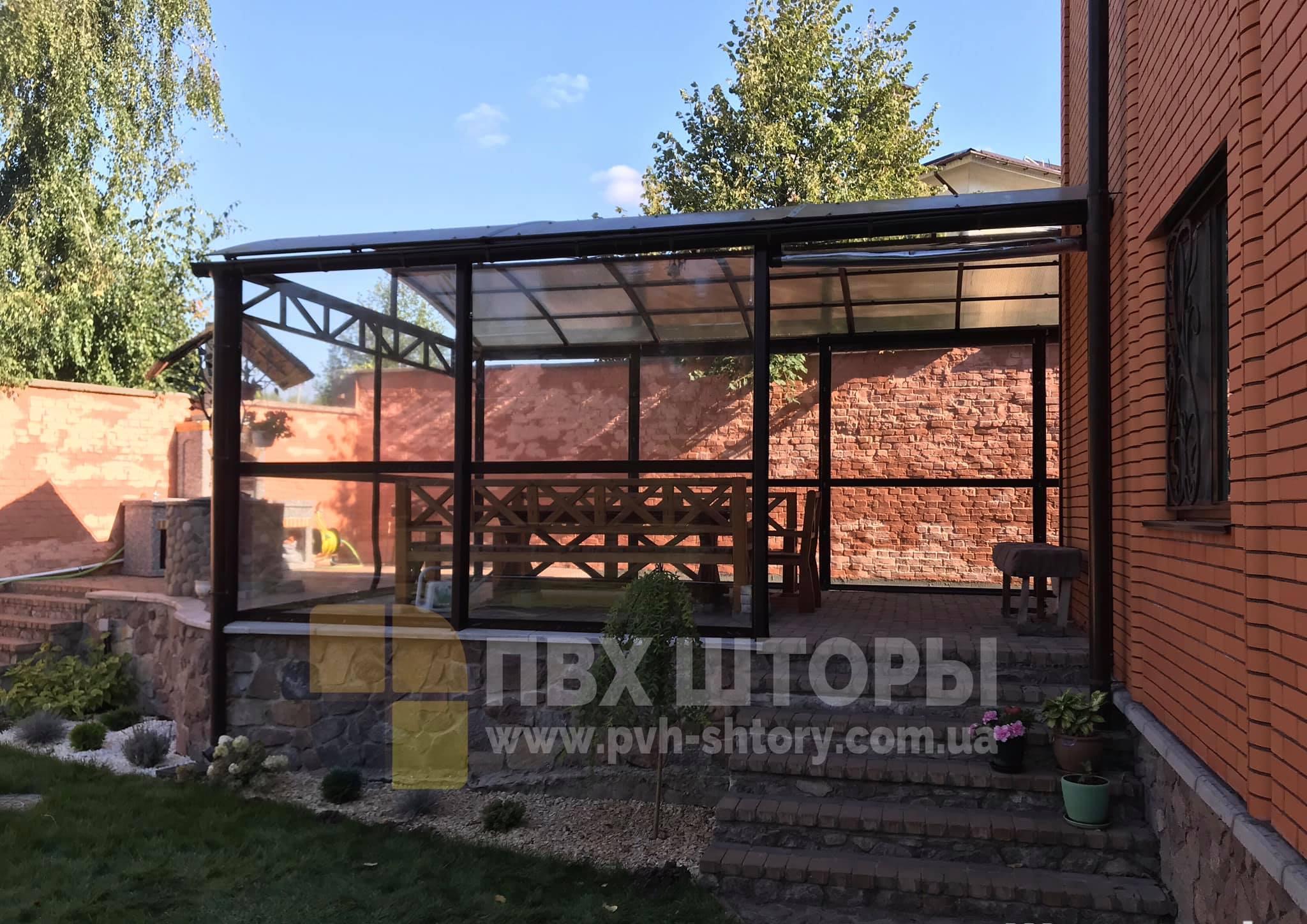 ПВХ шторы для беседки в Березовке