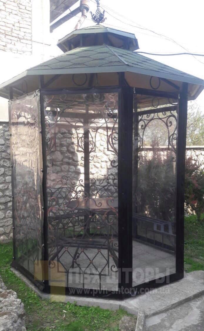 Жидкие окна для беседки в Вилково