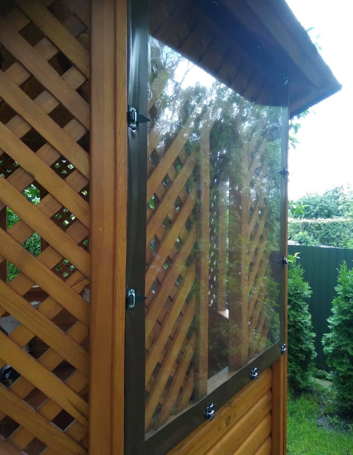 ПВХ шторы на деревянную беседку в Тернополе (Тернопольская область)
