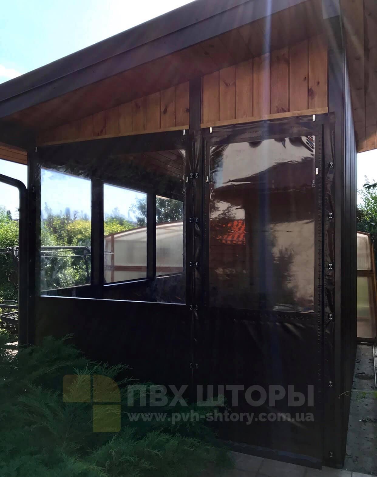 Гибкие окна для беседки в Новом Буге
