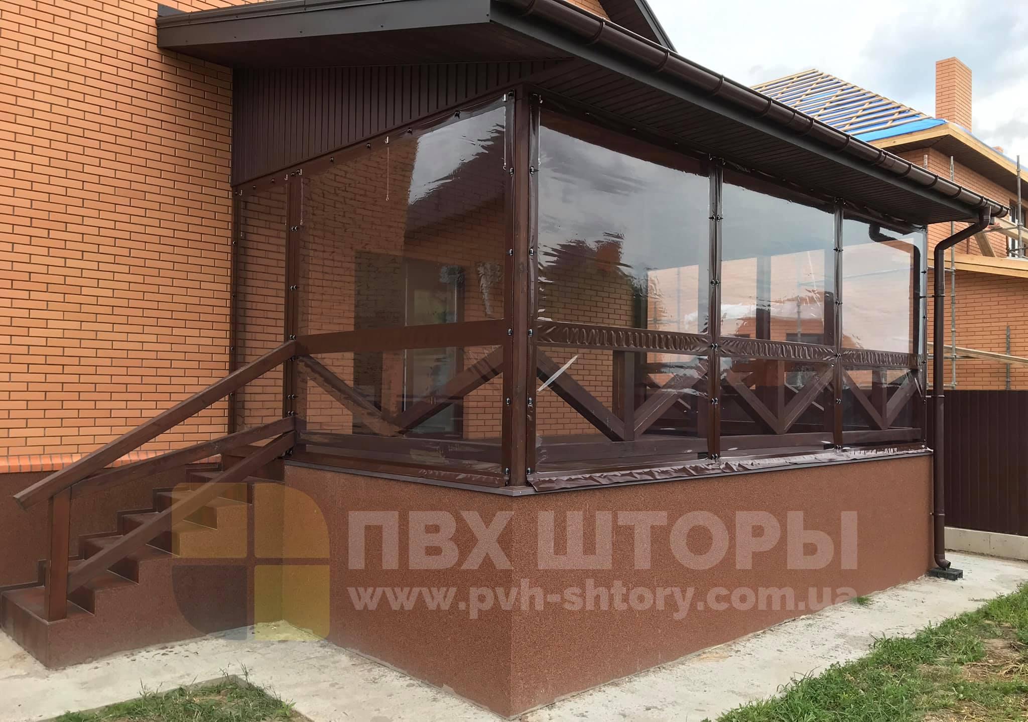 ПВХ шторы для веранды в Снигиревке