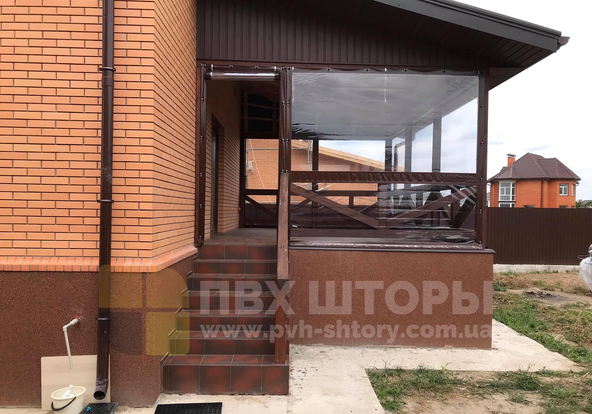 Брезентовые окна для веранды в Снигиревке