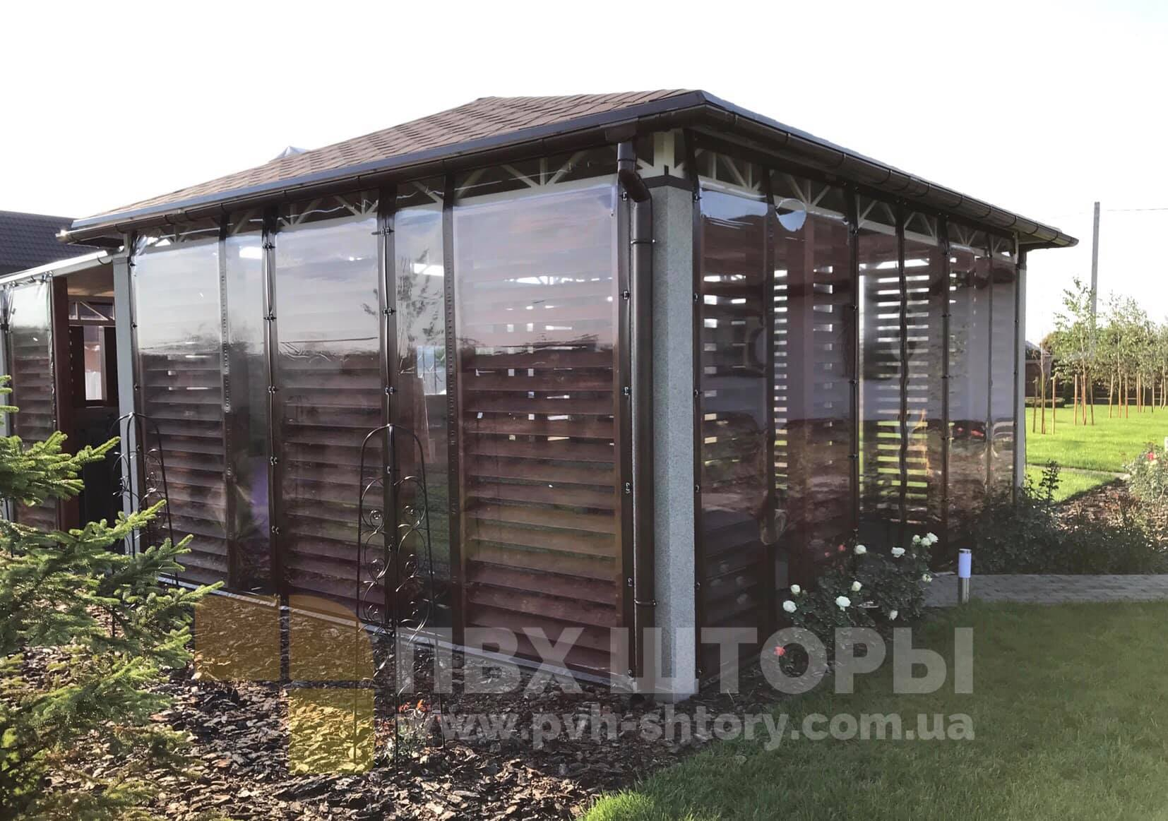 Жидкие окна для беседки в Новой Каховке