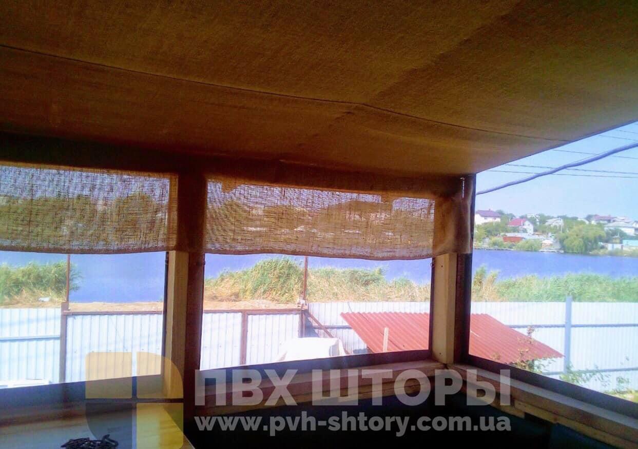 Жидкие окна для веранды в Каховке