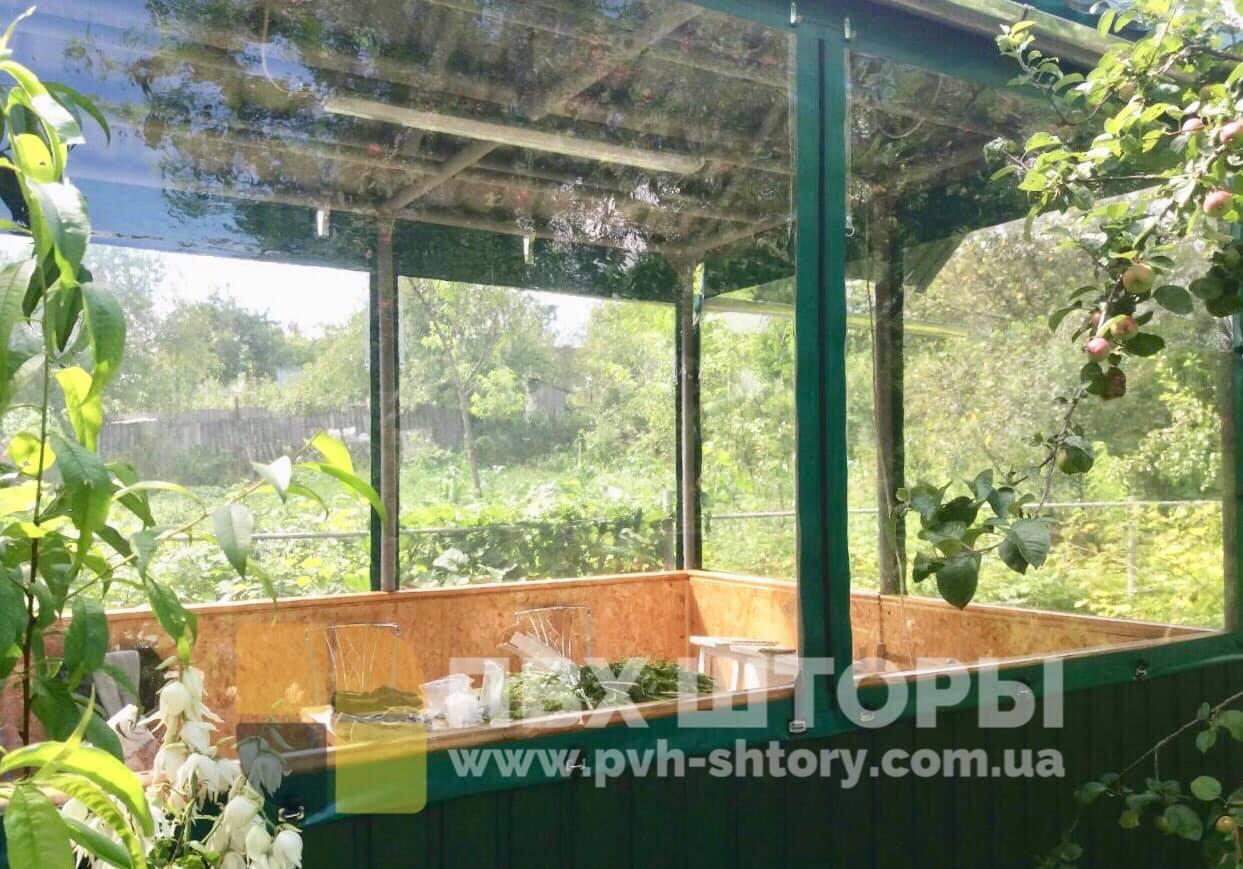 Гибкие окна для беседки в Голой Пристани