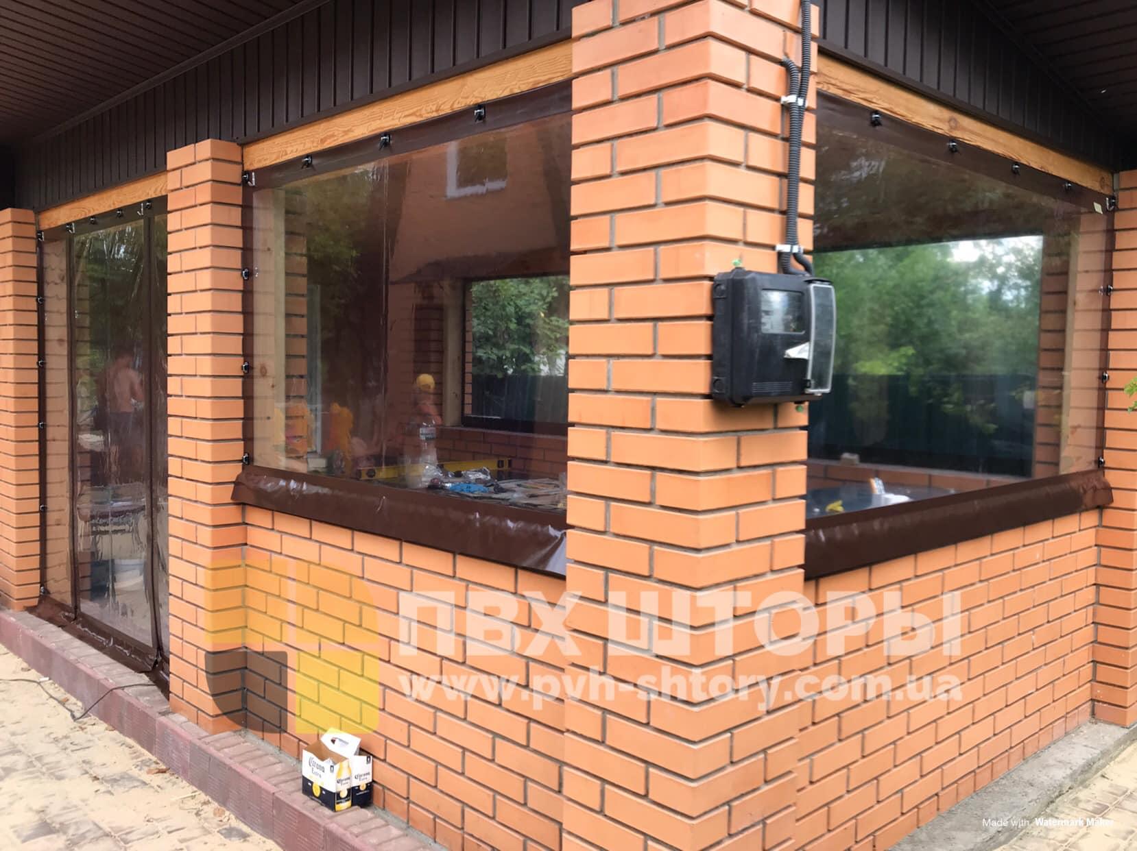 Пленочные окна для беседки в Самборе