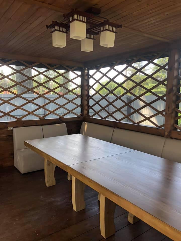 ПВХ шторы на деревянную беседку в Киеве