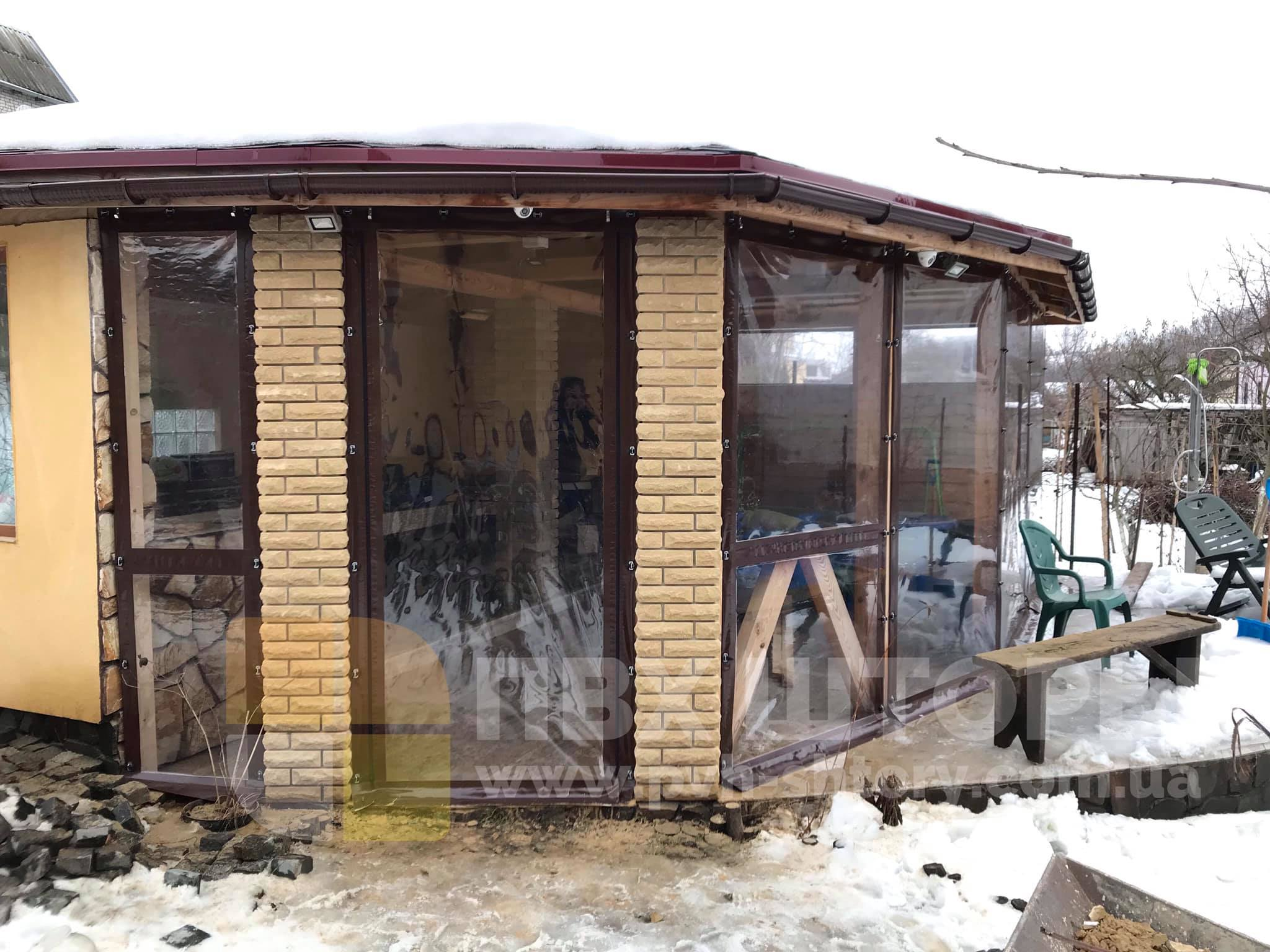 Гибкие окна для веранды в Ходорове