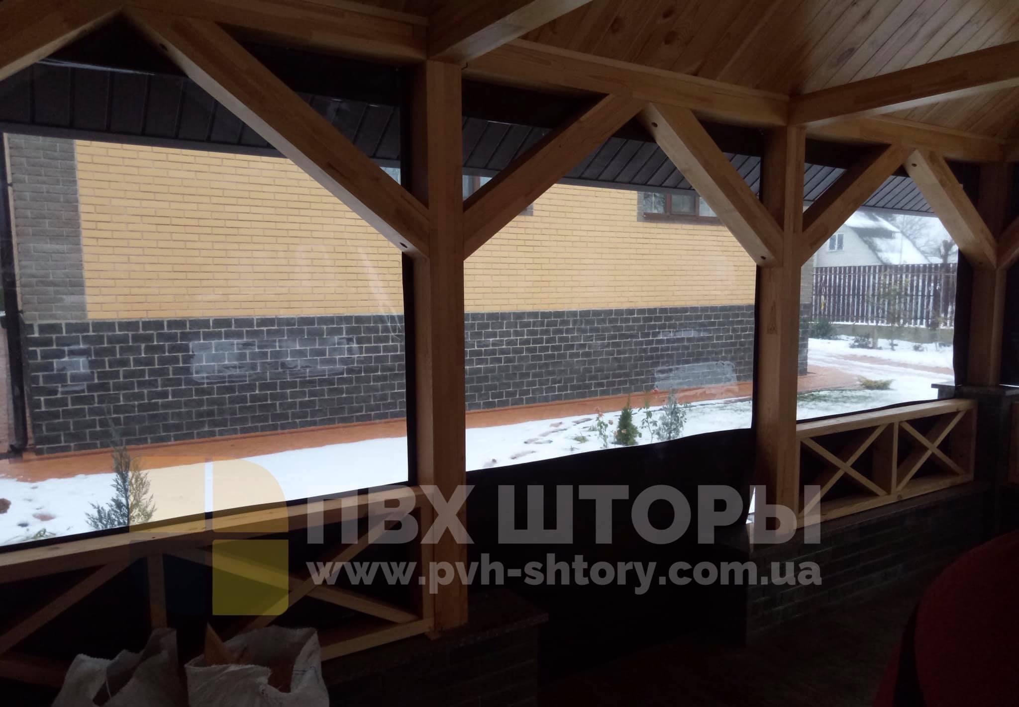 Пленочные окна для беседки в Турке