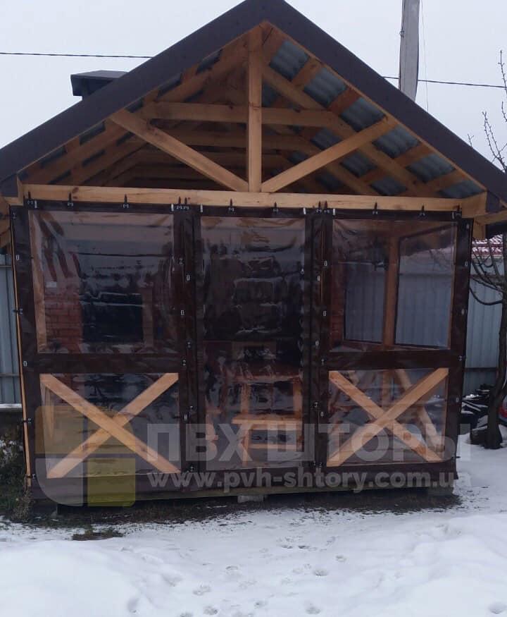Пленочные окна для веранды в Сколе