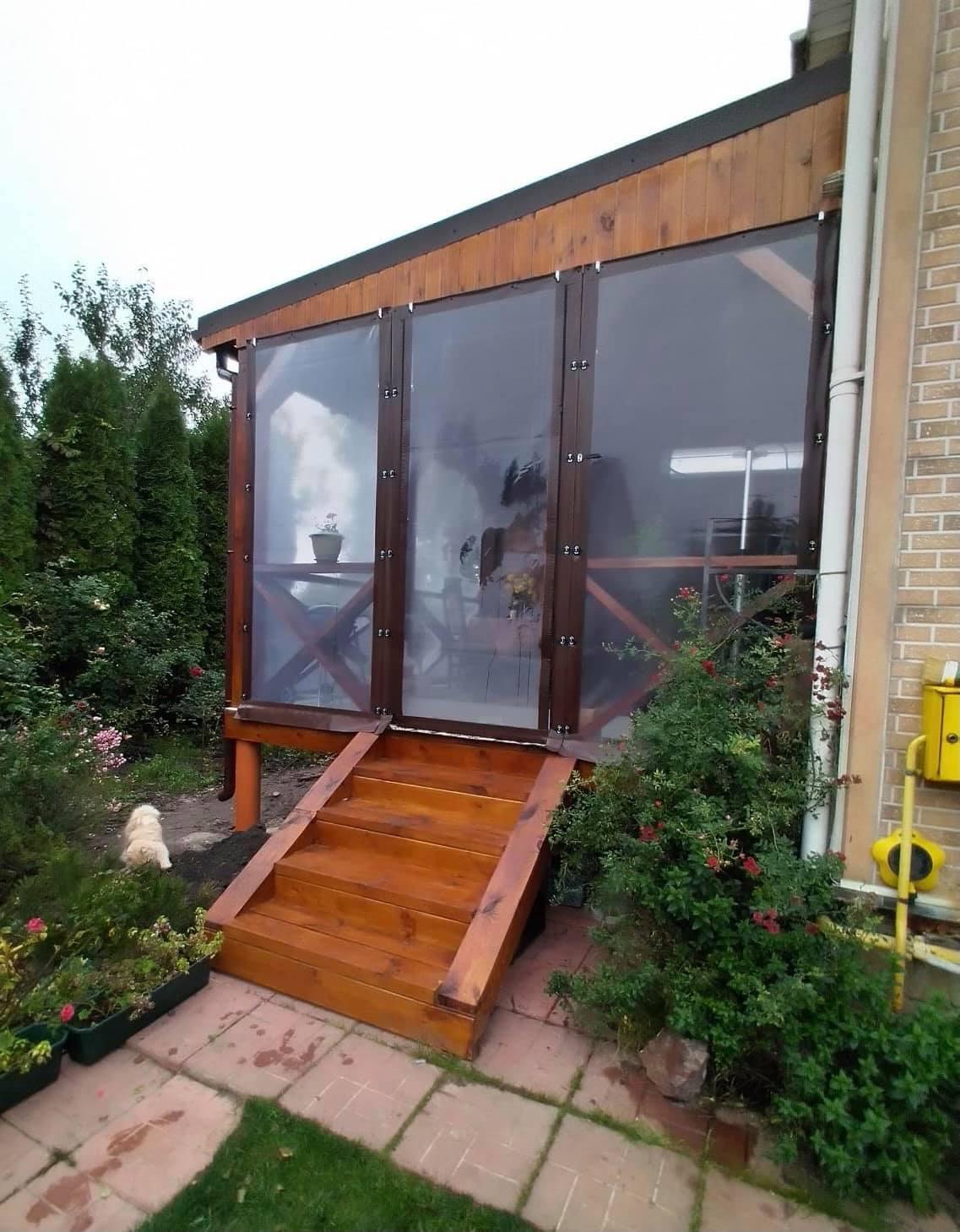 Гибкие окна для веранды в Глобино