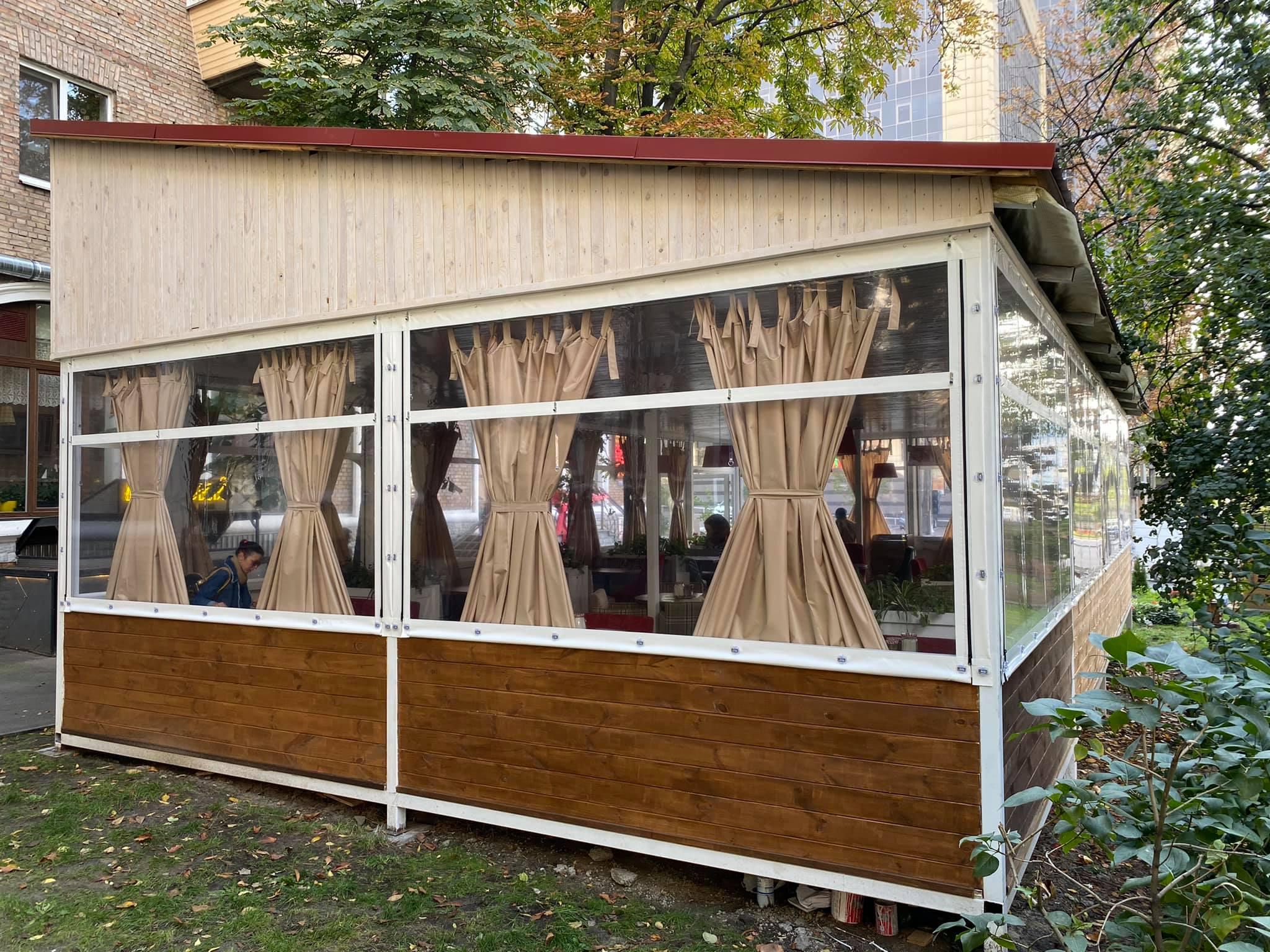Мягкие окна для ресторана в Киеве