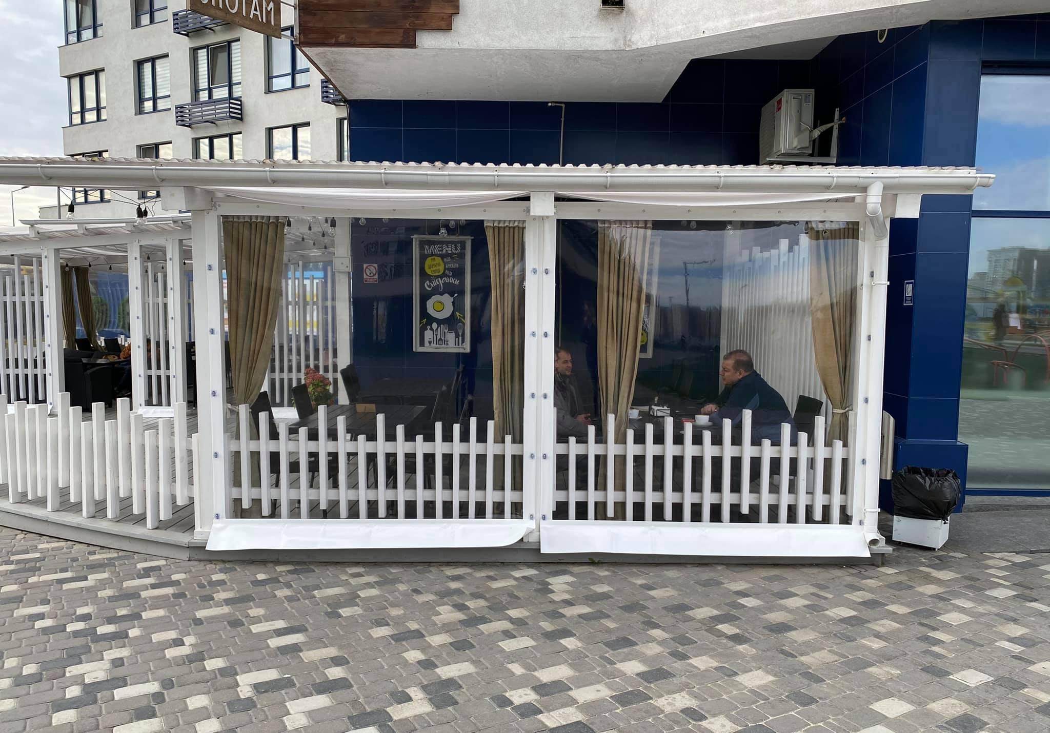 Прозрачные Мягкие окна для гастро кафе Shotam