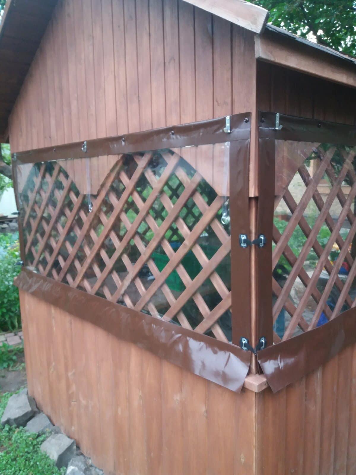 ПВХ шторы на деревянную беседку в городе Луцк (Волынская область)