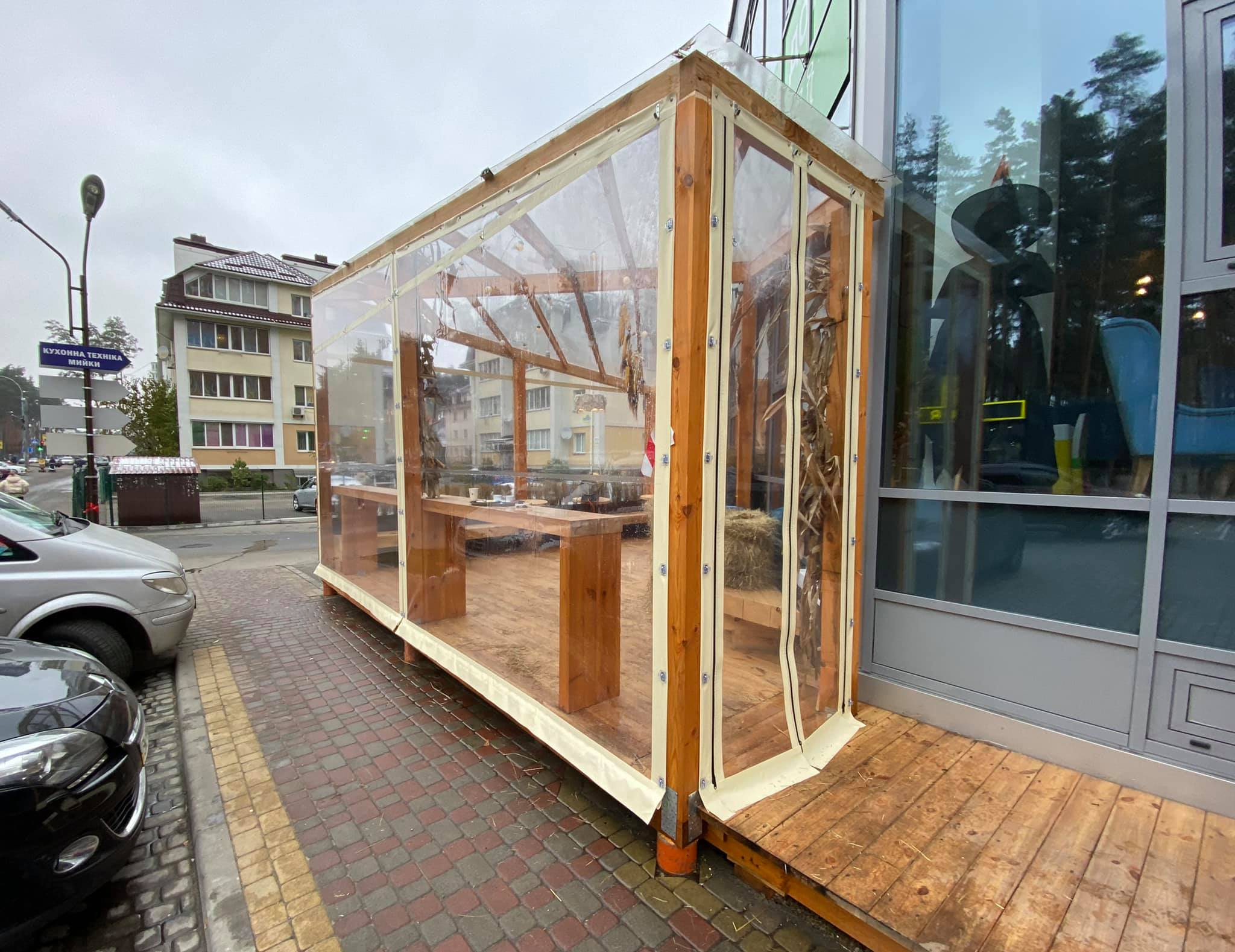 ПВХ шторы для ресторана в Ирпене
