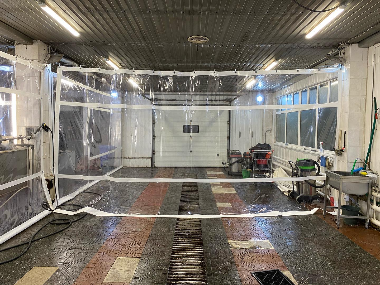 ПВХ шторы для автомойки