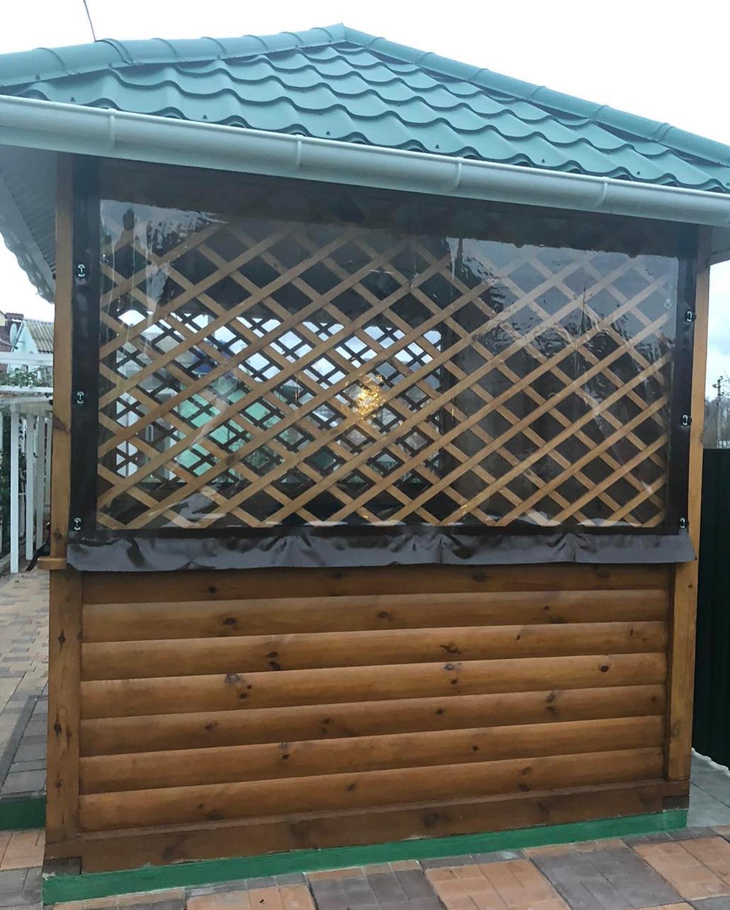 ПВХ шторы и мягкие окна для беседок и веранд в Остёре