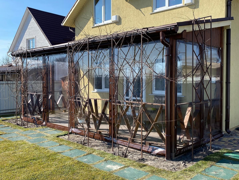 Гибкие окна для веранды в Пуховке