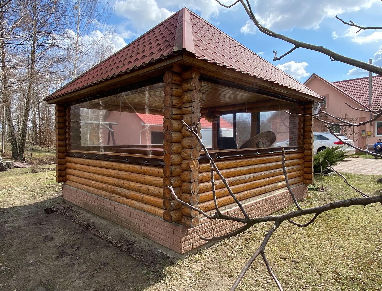 Прозрачные шторы для беседки в Жукине (Вышгородский Район)
