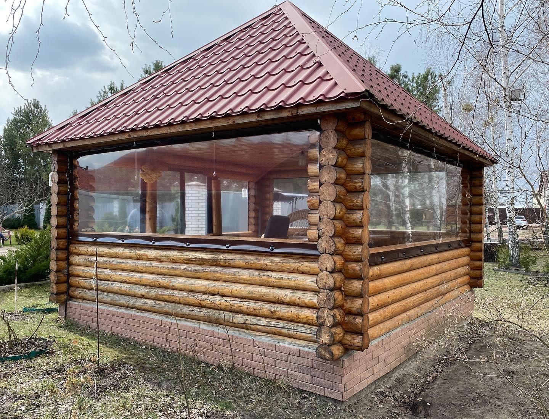 Гибкие окна для беседки в Жукине (Вышгородский Район)