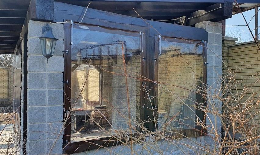 Мягкие окна для беседки в Полтаве