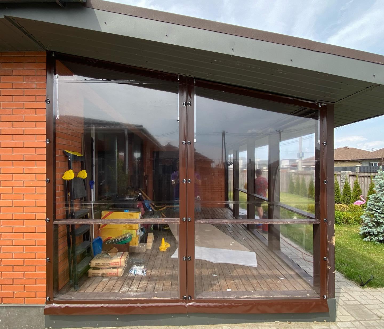 Гибкие окна для веранды в Межигорье