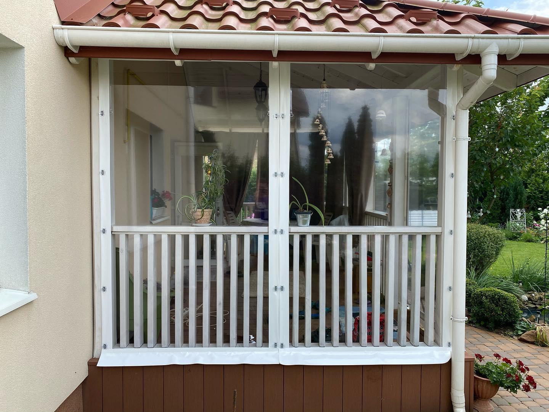 Прозрачные шторы для веранды