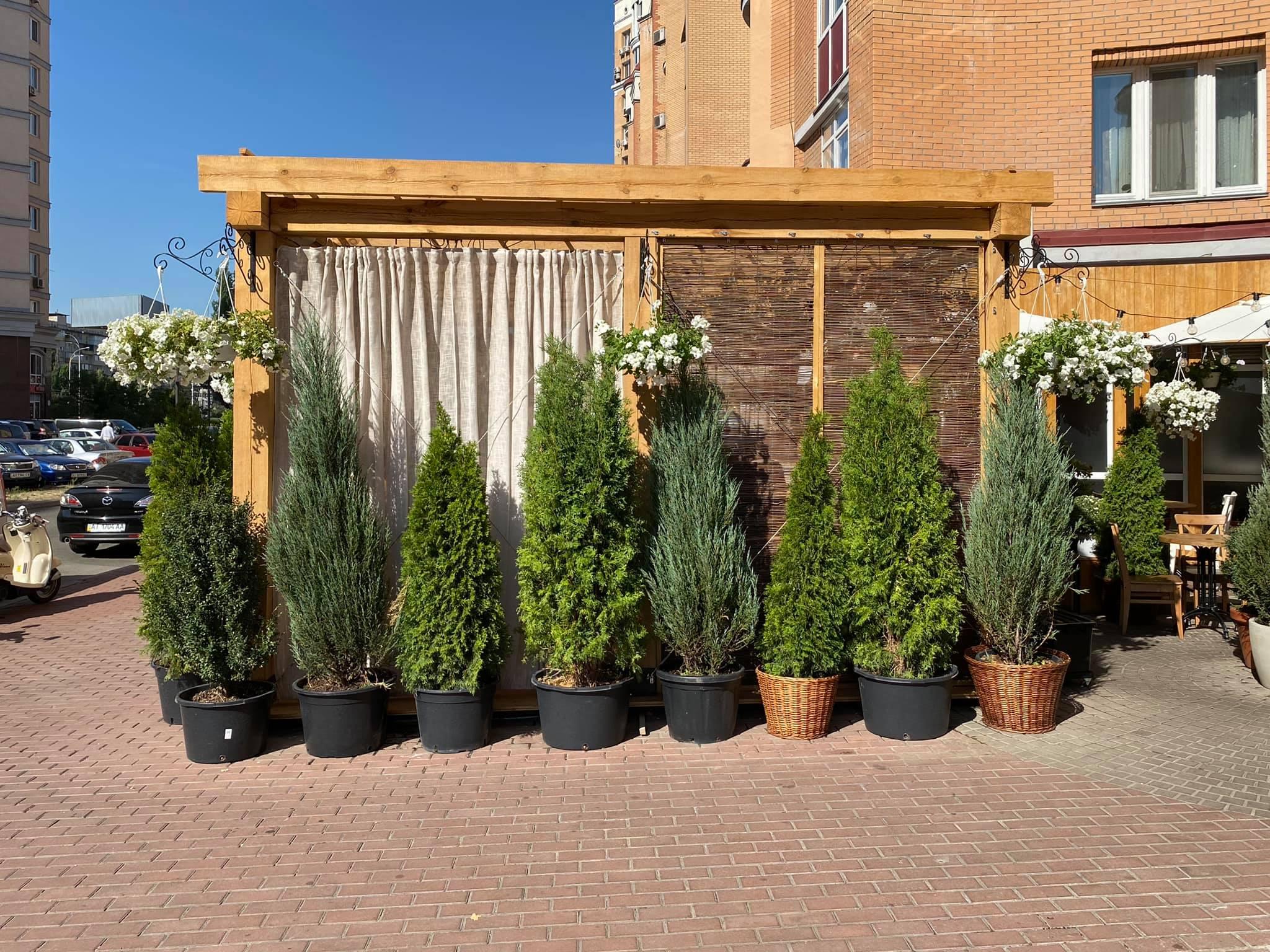 Гибкие окна на деревянную летнюю площадку ресторана Ristorante 8/8 (Парк Наталка, Оболонь, Киев)