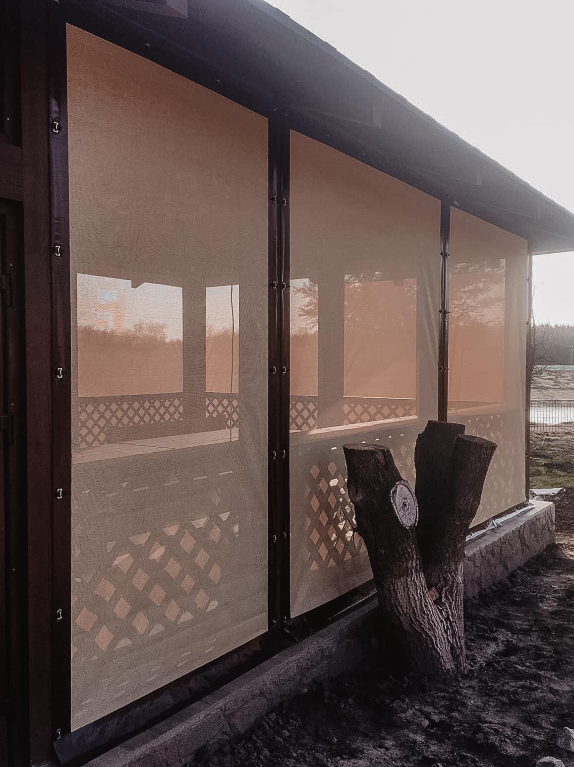 Москитка на деревянную беседку в городе Новомосковск