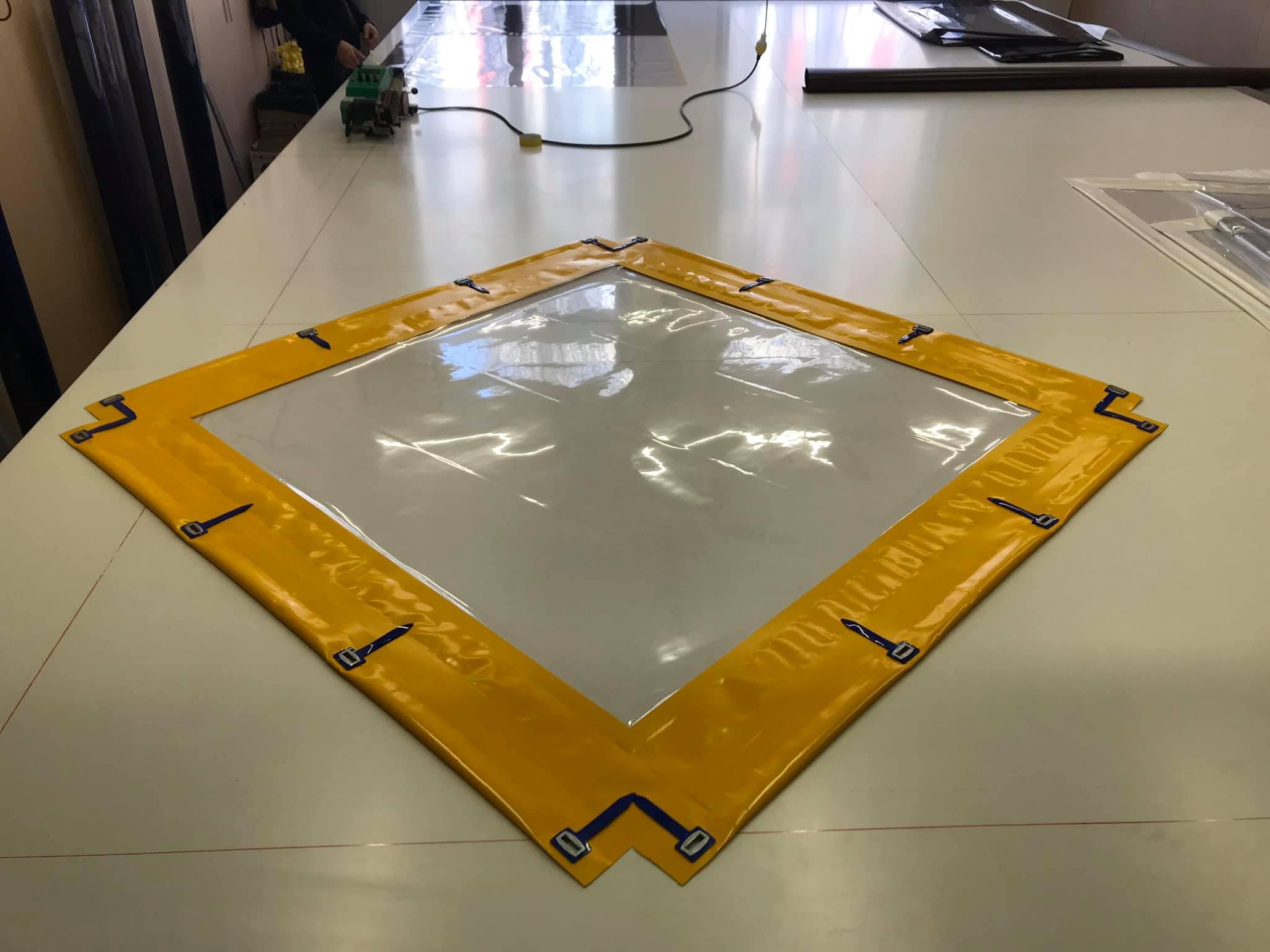 Прозрачный тент на песочницу