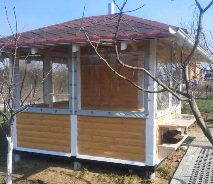 ПВХ шторы для беседки в Василькове
