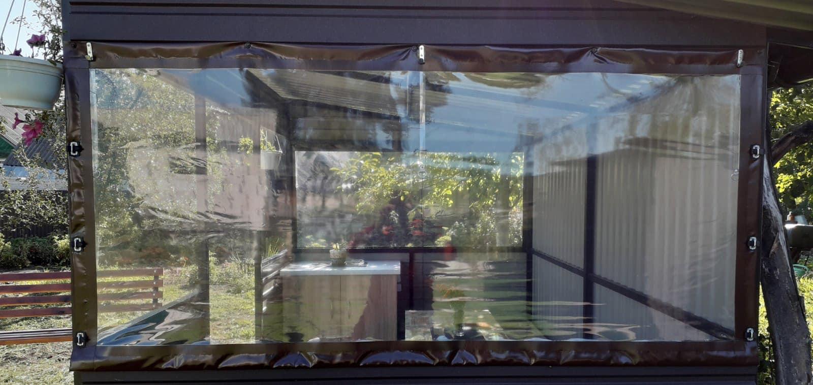 Гибкие окна для беседки в Вишгороде
