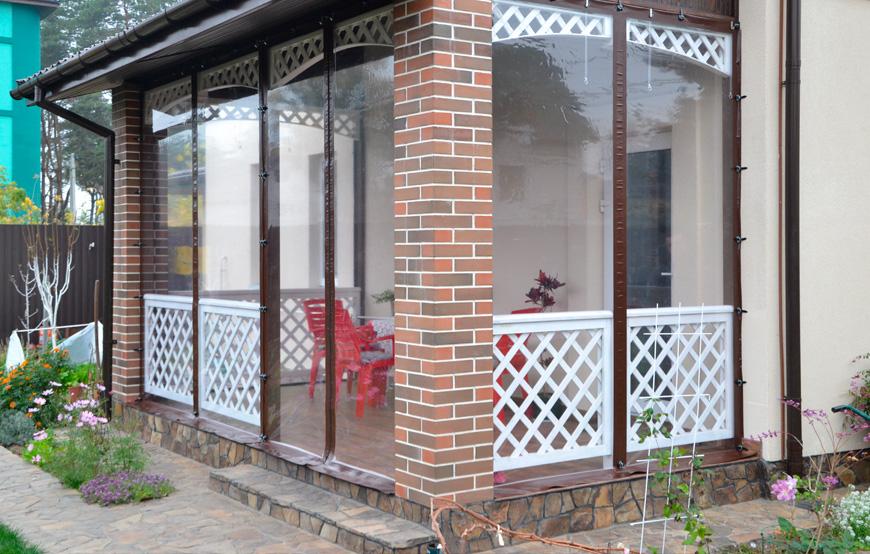 Мягкие окна для веранды, беседки или летнего кафе